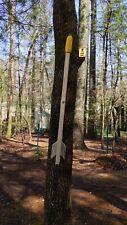 "Arrow squirrel spinner feeder, corn holder. 36"" treated pine"