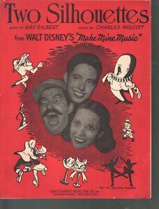 Two Silhouettes 1946 Disney's Make Mine Music Sheet Music