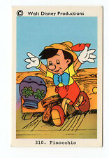 1970s Sweden Swedish Walt Disney Card - Pinocchio about to break vase