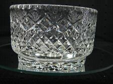 Gorgeous Vintage Heavy Clear Crystal Bowl