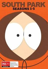 South Park : Season 1-5 (DVD, 2015, 15-Disc Set) *Same Day Shipping*
