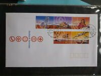 2001 AUSTRALIA OUTBACK SERVICES SET 5 STAMPS FDC FIRST DAY COVER