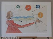 Salvador Dali DALINISCHE PROPHEZEIUNG (vgl. # 832) inkl. 50 x 70 cm Passepartout