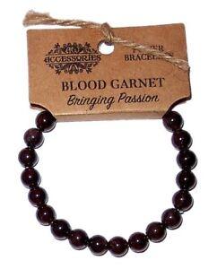BLOOD GARNET POWER BRACELET/CRYSTAL HEALING