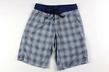 Prana Mens Size 30 Outdoor Swimming Swim Board Shorts Yoga Shorts Blue Plaid
