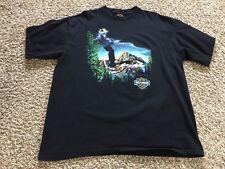 VTG 1989 Harley Davidson Eagle on Mountains 3D Emblem Tee xl