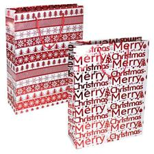 Pack 2 Navidad Grande Bolsa Regalo 34cm X 25cm X 8.5cm Rojo