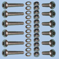 Rear Back Door Hinge bolt Kit Set STAINLESS STEEL Land Rover Defender 90 110 130