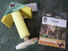BUTTERFLY NECTAR FEEDER & FOOD PACK
