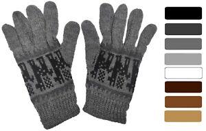 Alpaca Wool Mens Gloves Soft Winter Warm Cosy Peruvian Neutral