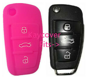 PINK SILICONE CAR KEY COVER for AUDI A1 A3 Q3 Q7 R8 A6L TT