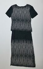 Connected Womens Size 6 Black & White Polka Dot Dress Great Condition