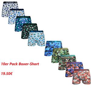10er Pack Herren Boxer Short Retro Shorts Baumwolle Unterwäsche M L XL XXL XXXL