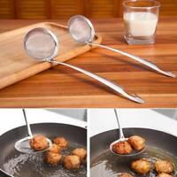 Stainless Steel Fine Mesh Wire Oil Skimmer Strainer Flour Colander Cooking Spoon