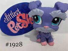 Schnauzer Dog #1928 - Authentic Littlest Pet Shop - Hasbro Lps