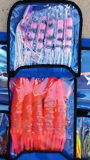 "12"" 9"" Pink Squid Game Fishing Teaser Spreader Dredge Trolling Lures Tuna Marlin"