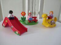 ♥ Playmobil 123 Jeu De Construction Enfants Et Aire De Jeux Réf : 6748 Complet