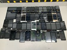 Lot Of 47 Cell Phones Samsung Lg Motorola Zte Tcl Iphone - For Salvage Parts!