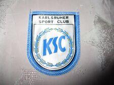 """Karlsruher SC Original gedruckter Aufnäher 70iger Jahre """"KARLSRUHER SPORT CLUB"""""""
