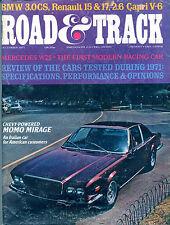 Road & Track Magazine December 1971 Chevy-Powered Momo Mirage VGEX 122415jhe