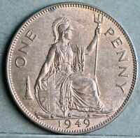 George VI Bronze Penny, 1949. Subdued Lustre, Uncirculated. No.4