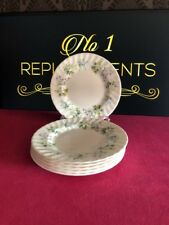 6 x Minton Spring Valley Side / Tea Plates 17cm