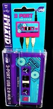 Retro Audio Tape Kassette 3 Port USB Hub Tragbar Neuheit Gadget