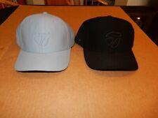 Lot of 2 TaylorMade Golf Hat Grey & Black Stitched Snapback Baseball Cap OSFA