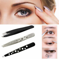 Pro Beauty Eyebrow Tweezers Hair Beauty Slanted Stainless Steel Tweezer Too W9K8