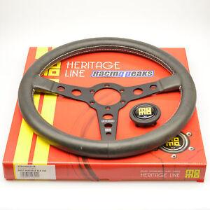 MOMO Prototipo Heritage leather steering wheel 350mm BLACK race sport tuning