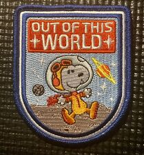 """OUT OF THIS WORLD"" - APOLLO 50th-ANNIVERSARY NASA SNOOPY SPACE PATCH - 3.5"""