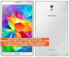 "SAMSUNG TAB S 8.4 LTE SM-T705 3gb 16gb 8.0mp Fingerprint 8.4"" Android Tablet 4g"