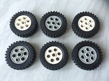 Lot of 6 LEGO TECHNIC 13 x 24 Wheels/Tyres
