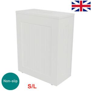 Bathroom Tidy Box Grey Toilet Roll Cleaning Bottle Storage Unit Cabinet Slimline