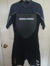SeaDoo 4-Way Flex Short Wetsuit Mens L BRP Ultra Stretch Blue/Grey - NWT