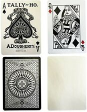 Tally Ho White Deck Reverse Circle Back Limited Edition Playing Cards