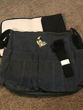 Mickey Mouse Denim Diaper Bag With Changing Mat