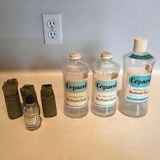 Vintage Cepacol Bottles plus Listerine Mouthwash