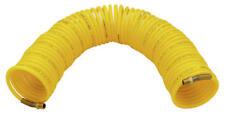 "NEW 1/4"" x 50' Yellow Flexible Nylon Recoil Air Hose 1/4"" Brass Male NPT Fitting"