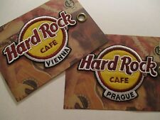 HARD ROCK CAFE PATCHES PRAGUE VIENNA COMBO 2 IRON ON SOUVENIRS COLLECTIBLES #91