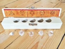 Clear Quartz Platonic Solids, Sacred Geometry 5 piece set, healing, meditation