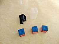 (3) Pieces of Blue Master Chalk & (1) Billiard Chalk Case & (1) Magnetic Holder