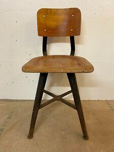 Werkstatt Stuhl Antik Industrial Vintage Werkstattstuhl Hocker Industriedesign