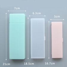 Creative Transparent Plastic Pencil Case Multifunction Pen Box School Supplies