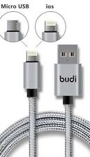 Fast charger & sync Data cable lead for iphone 5 5s 6 6s 7 7 edge branded (budi)