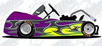 Tribal metal go kart race car vinyl graphic decal wrap