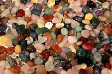 "5 lbs Tumbled Polished Gem Stones- Approx.5/8-7/8"" Over 400 pcs Wholesale Lot"