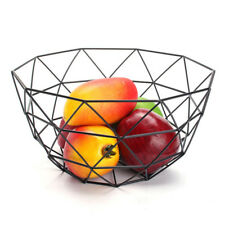 Fruit Basket Stand Sturdy Hamper Iron Storage Black Bowl Rack Display Organizer