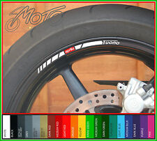 8 x APRILIA TUONO Wheel Rim Stickers Decals - Many Colours - factory r (o)