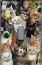 CATS, CATS, CATS HOME WALL DECOR SINGLE LIGHT SWITCH PLATE